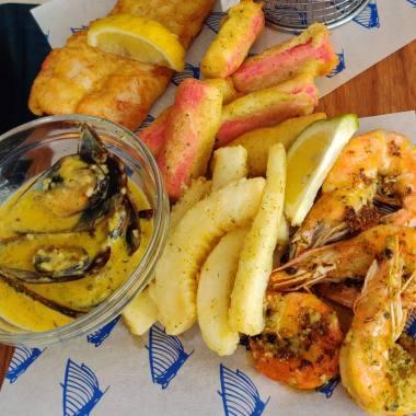 Sea food - Calamari, Hake, Prawns and Mussels